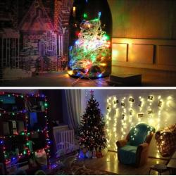 Lichterkette Kupferdraht LED mit Fernbedienung Weihnachten 10M 100LED